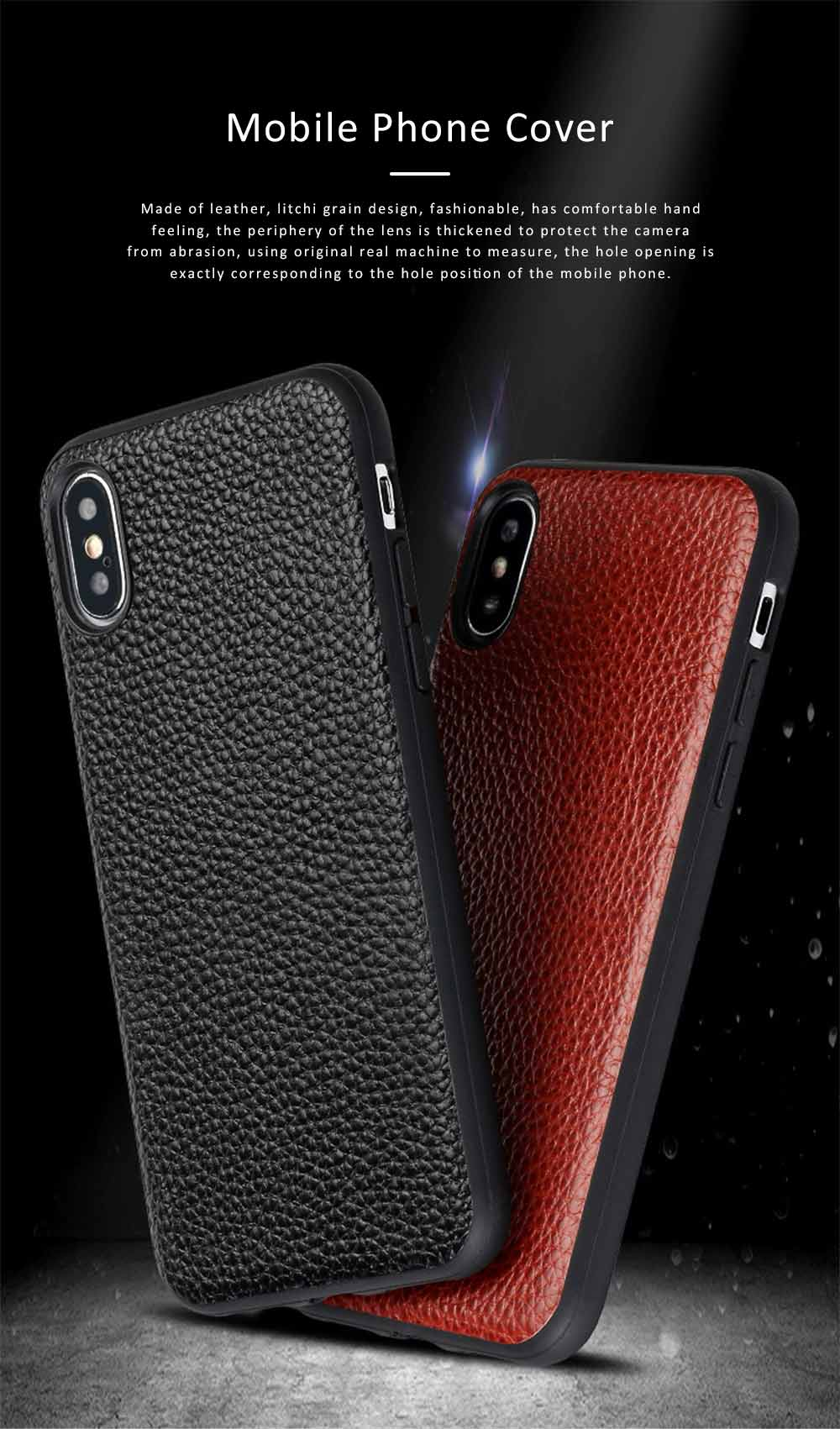 Durable Fashionable Leather Protective Case Mobile Cover for Xiaomi 8/ 8se/ Max3/ 6X 0