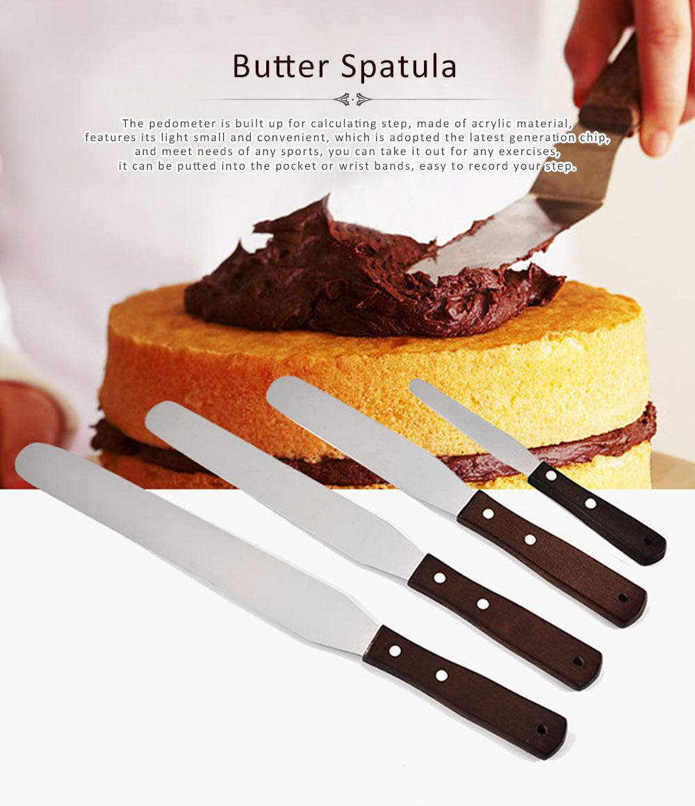 Butter Spatula Stainless Steel Material Smooth for Making Cake Food Baking Tool Household Cutter 0