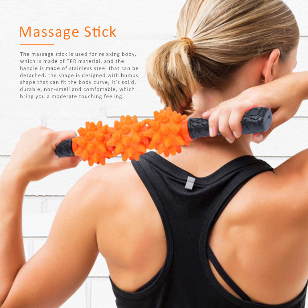 Massage Stick TPR Material Bumps Shape for Fitness Relaxing Massage Body-building Device 0