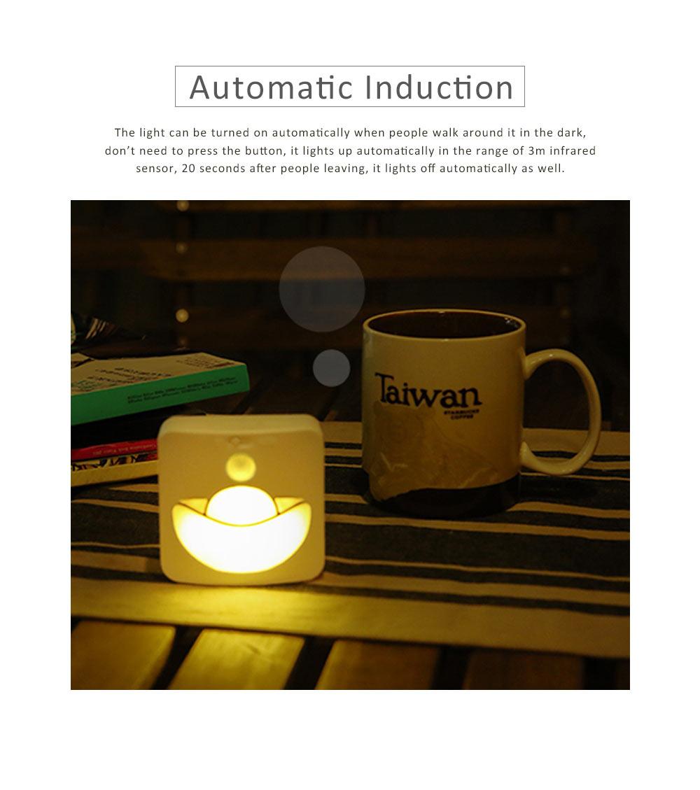 Automatic Human Body Induction Lamp, Three models Infrared Sensor Motion Detector Night Light Manual Light 1