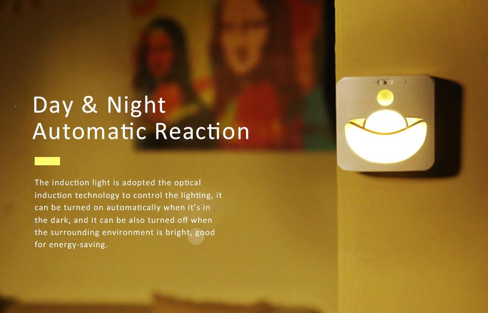 Automatic Human Body Induction Lamp, Three models Infrared Sensor Motion Detector Night Light Manual Light 4