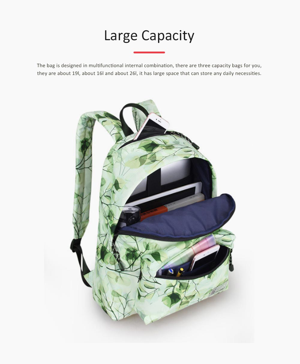 Women Backpack Polyester Durable with Zinc Alloy Zipper Waterproof Fashionable Women Pack-sack 4