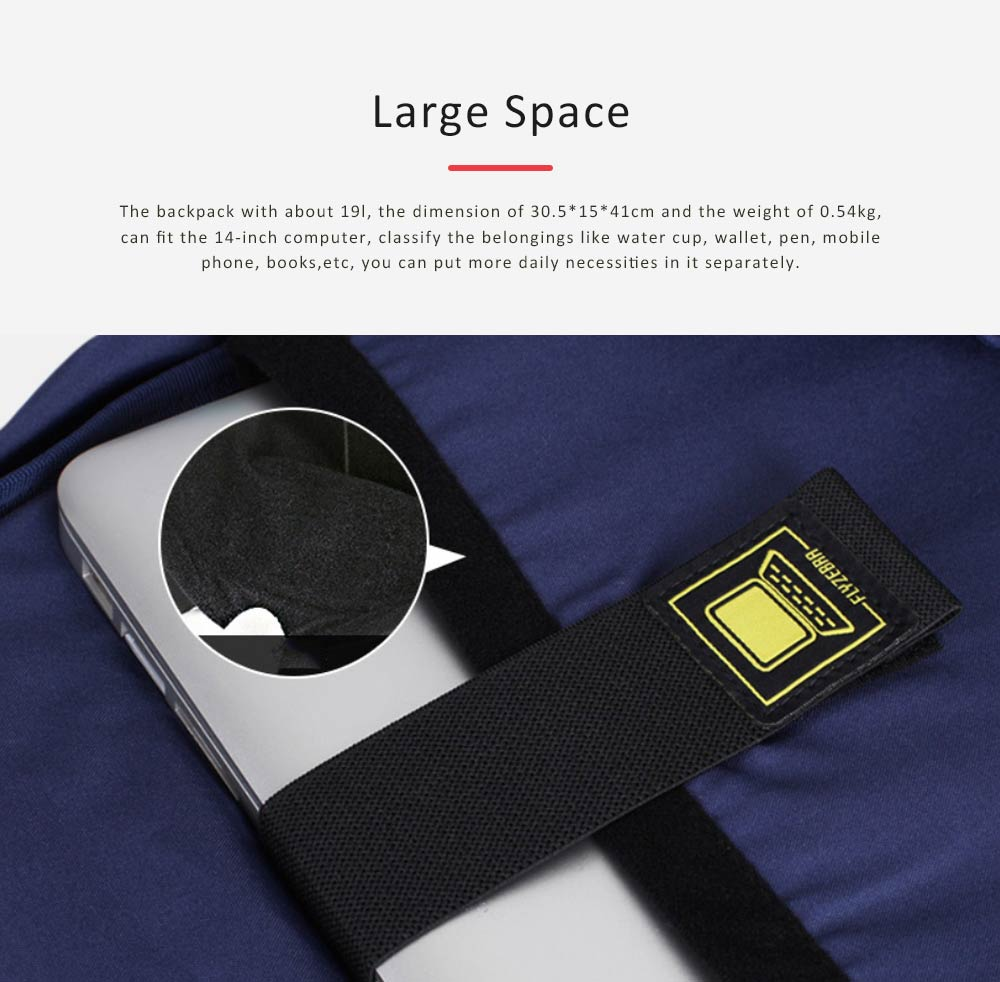 Unisex Black-white Backpack for Travel, Fashionable School Backpack for 14 inch Laptop 6