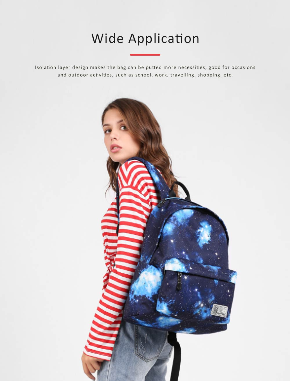 Starry Sky Backpack with Superior SBS Zipper, Fashionable Laptop Backpack for Traveling, Outdoors Shopping 2