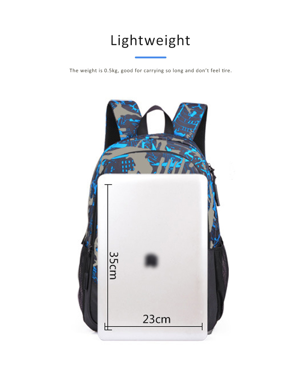 USB Charge Port Backpack for Notebook, Laptop, Waterproof Oxford School Bag for Students, Traveling 7