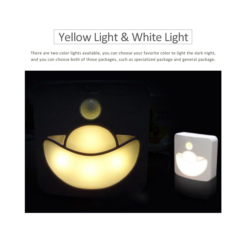 Automatic Human Body Induction Lamp, Three models Infrared Sensor Motion Detector Night Light Manual Light 3