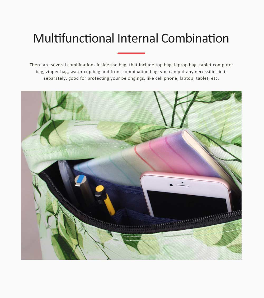 Women Backpack Polyester Durable with Zinc Alloy Zipper Waterproof Fashionable Women Pack-sack 6