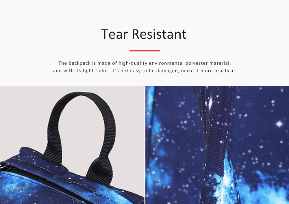 Starry Sky Backpack with Superior SBS Zipper, Fashionable Laptop Backpack for Traveling, Outdoors Shopping 4