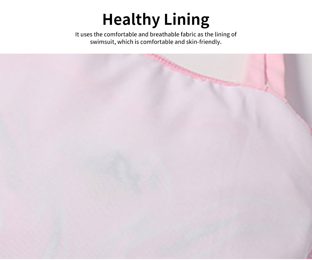 Swimsuit Cute One Piece Nylon Pleated Skirt for Children with A Hat Embroidery Bathing Suit 2019 New 4