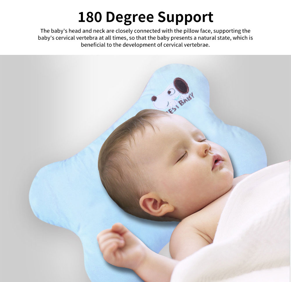Baby Pillow Four Seasons Crystal Velvet Infant Cushion Sleeping Support Infant Pillow for 0 to 1 Year Newborns Prevent Flat Head Pillow 3