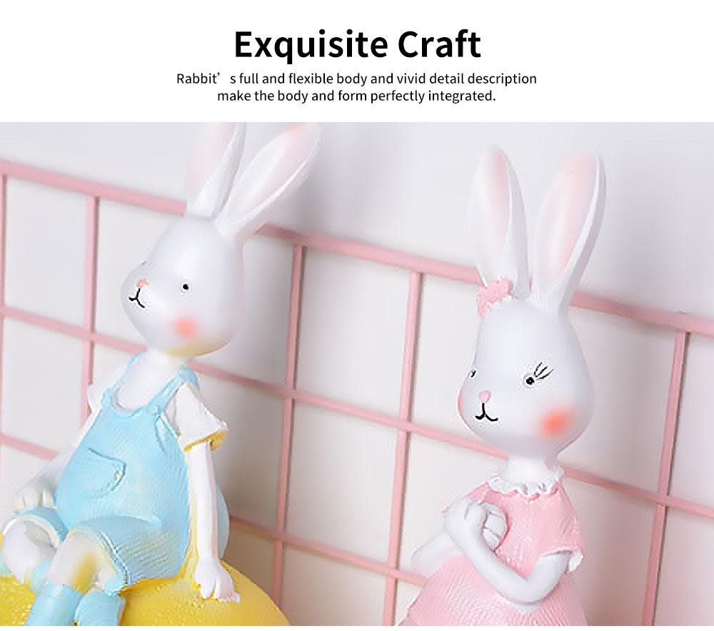 Creativity Cartoon Fruit Rabbit Decoration for Household Valentine's Day Cake Decoration Resin Ornaments 2