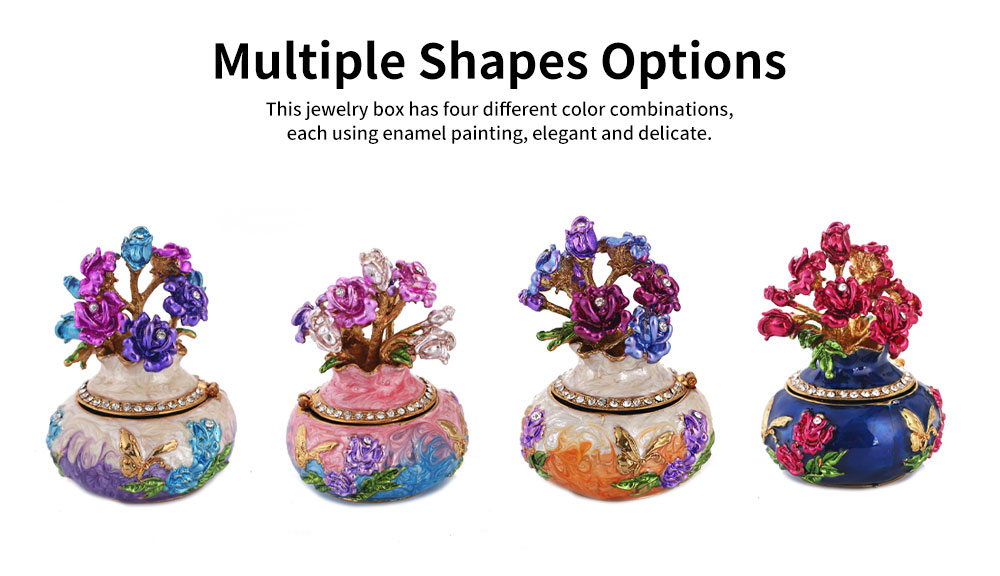 Jewelry Box High-grade Enamel Color Handmade Artwork Vase Ornaments for Household Jewelry Case 5