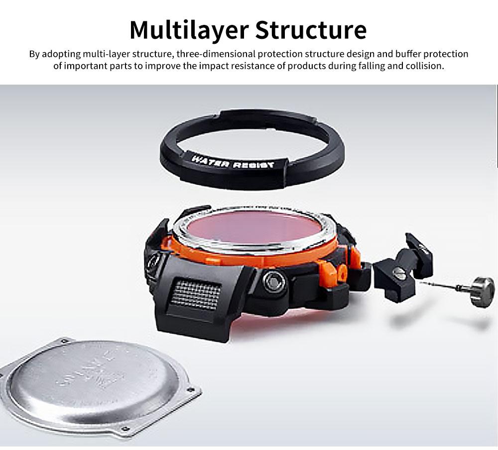 Electronic Quartz Outdoor Sports Watch for Men Waterproof Multifunctional Stylish Watch 3