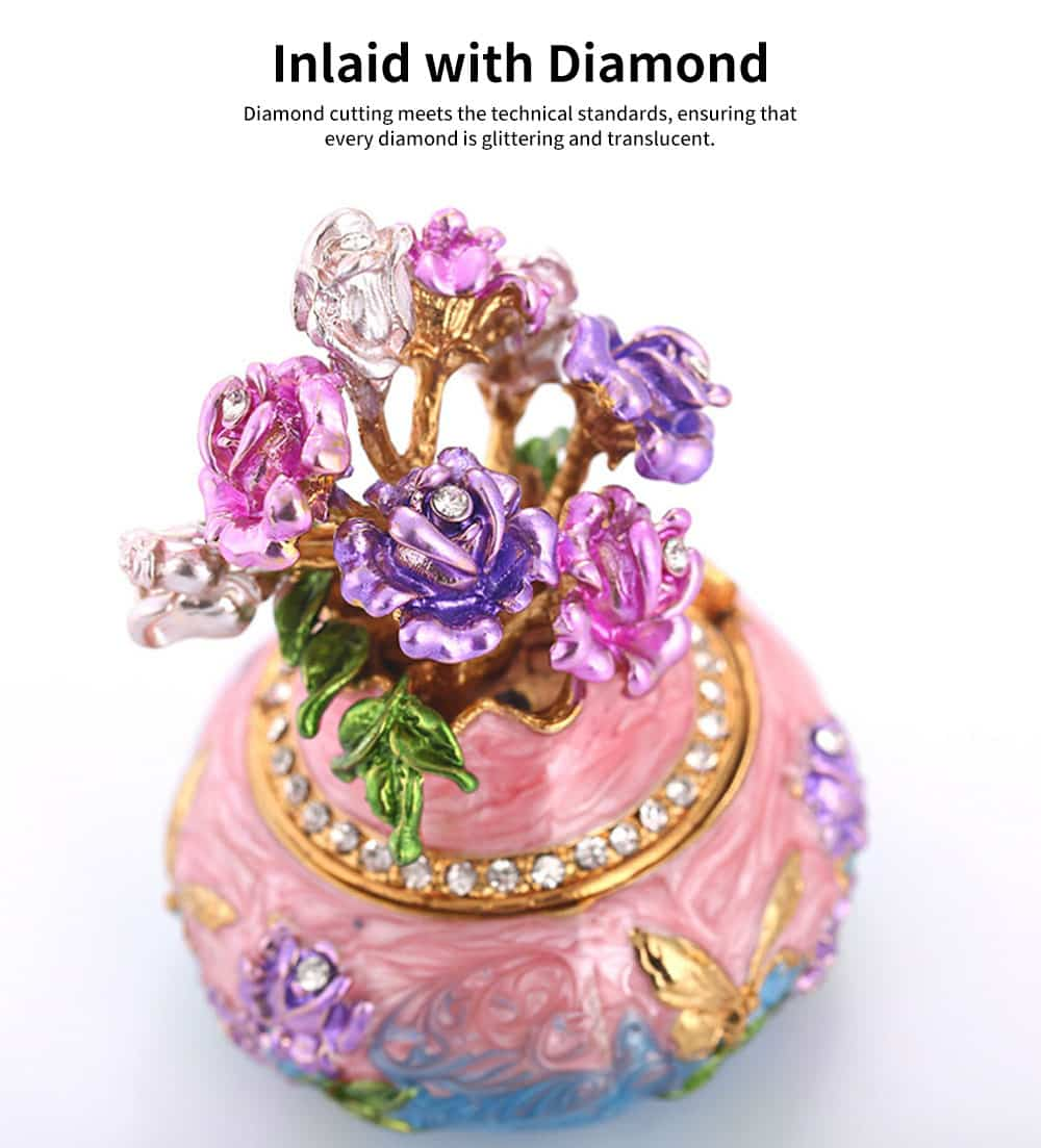 Jewelry Box High-grade Enamel Color Handmade Artwork Vase Ornaments for Household Jewelry Case 2
