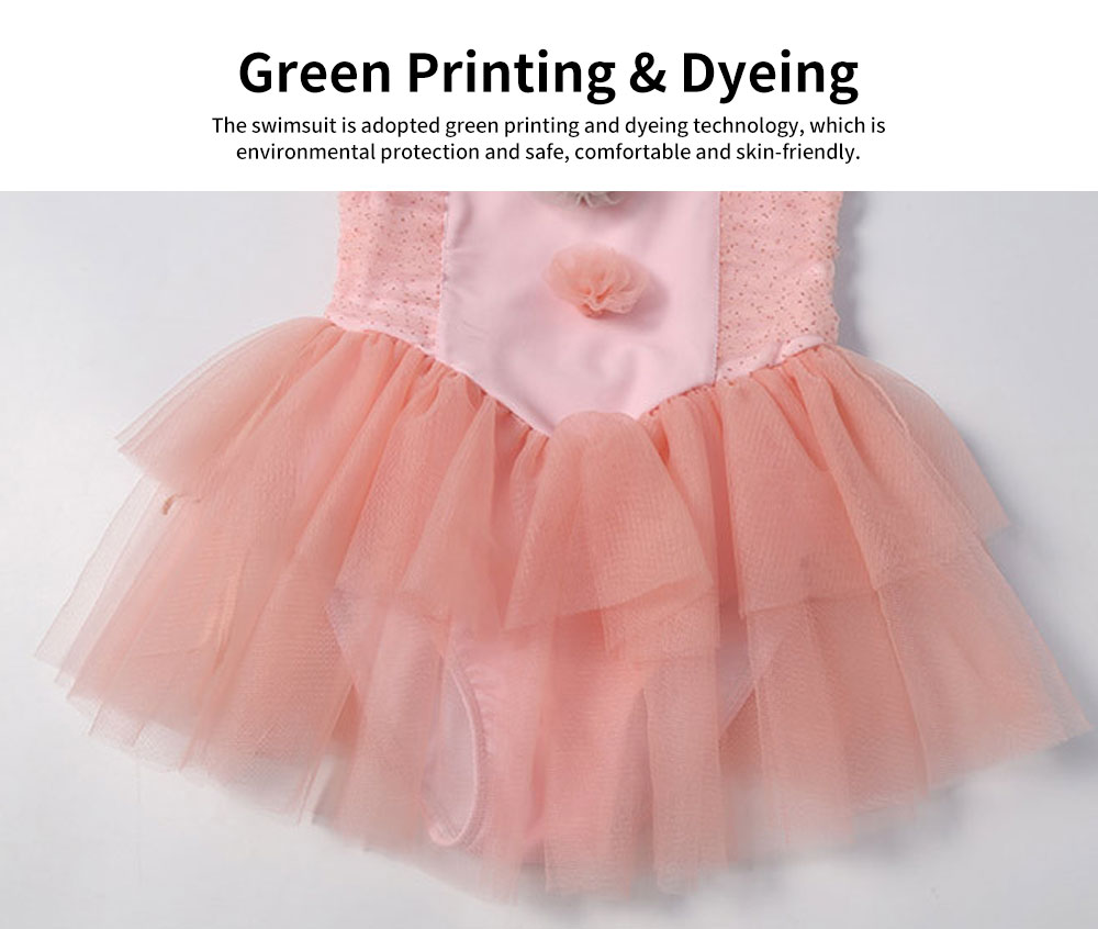 Swimsuit Cute One Piece Nylon Little Princess Skirt for Children with A Swimming Cap Bathing Suit 2019 New 5