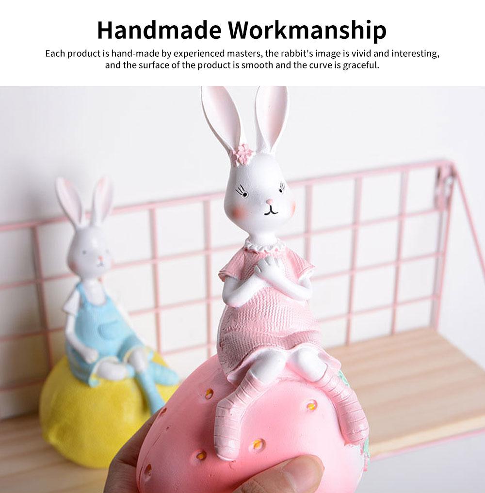 Creativity Cartoon Fruit Rabbit Decoration for Household Valentine's Day Cake Decoration Resin Ornaments 3