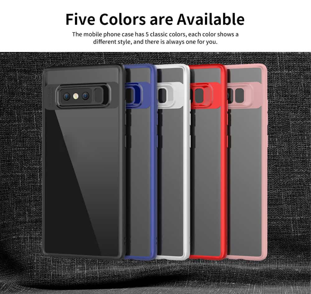Shockproof Transparent Phone Case for SAMSUNG Note8 & S8 & S8 Plus TPU 2-in-1 Mobile Phone Shell 5
