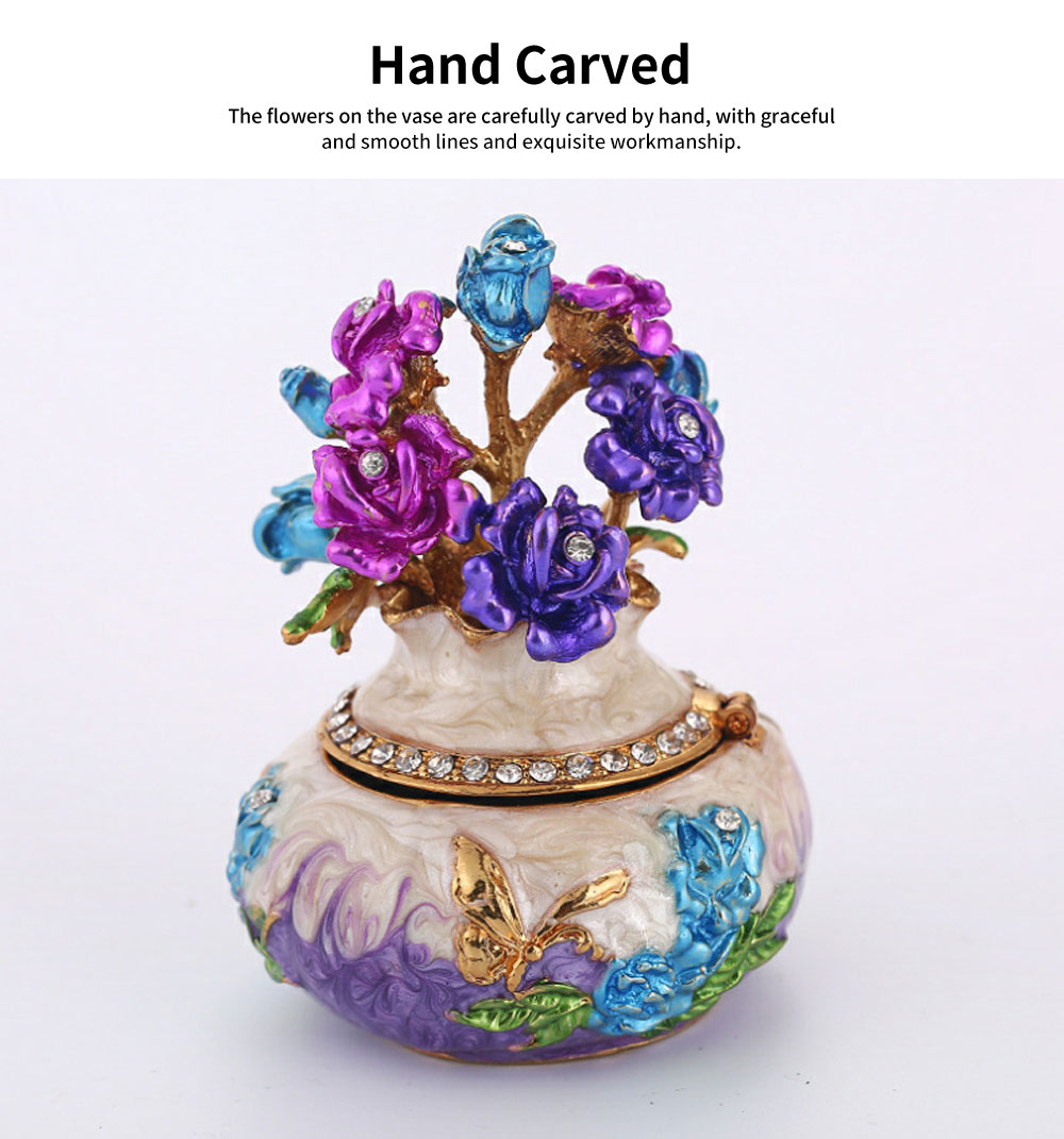 Jewelry Box High-grade Enamel Color Handmade Artwork Vase Ornaments for Household Jewelry Case 1