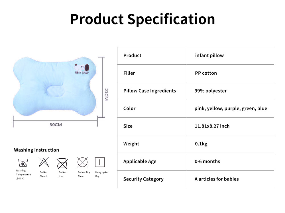 Baby Pillow Four Seasons Crystal Velvet Infant Cushion Sleeping Support Infant Pillow for 0 to 1 Year Newborns Prevent Flat Head Pillow 6
