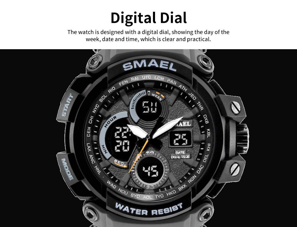 Electronic Quartz Outdoor Sports Watch for Men Waterproof Multifunctional Stylish Watch 5