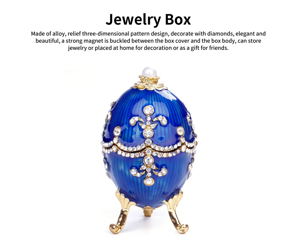 Russian Easter Egg Metal Handicraft Creative Decoration European Business Gifts Ornaments Jewelry Box 0