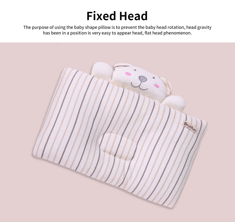 Baby Pillow Breathable Infant Cushion Sleeping Support Infant Pillow for 0 to 1 Year Baby Prevent Flat Head Pillow 4