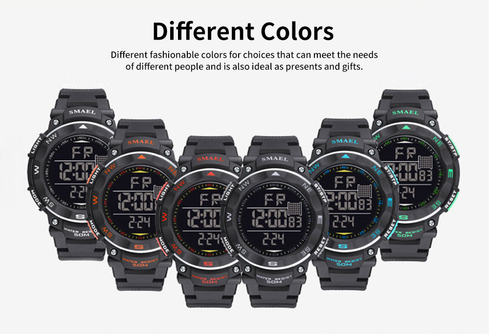 Digital Sport Watch for Teenagers, Boys, Students, Water-proof Multifunctional Luminous Digital Watch 5