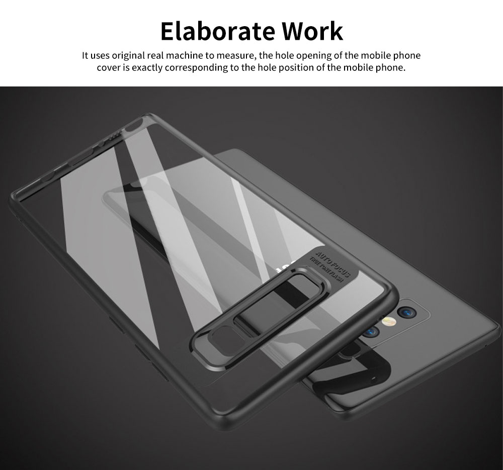 Shockproof Transparent Phone Case for SAMSUNG Note8 & S8 & S8 Plus TPU 2-in-1 Mobile Phone Shell 4
