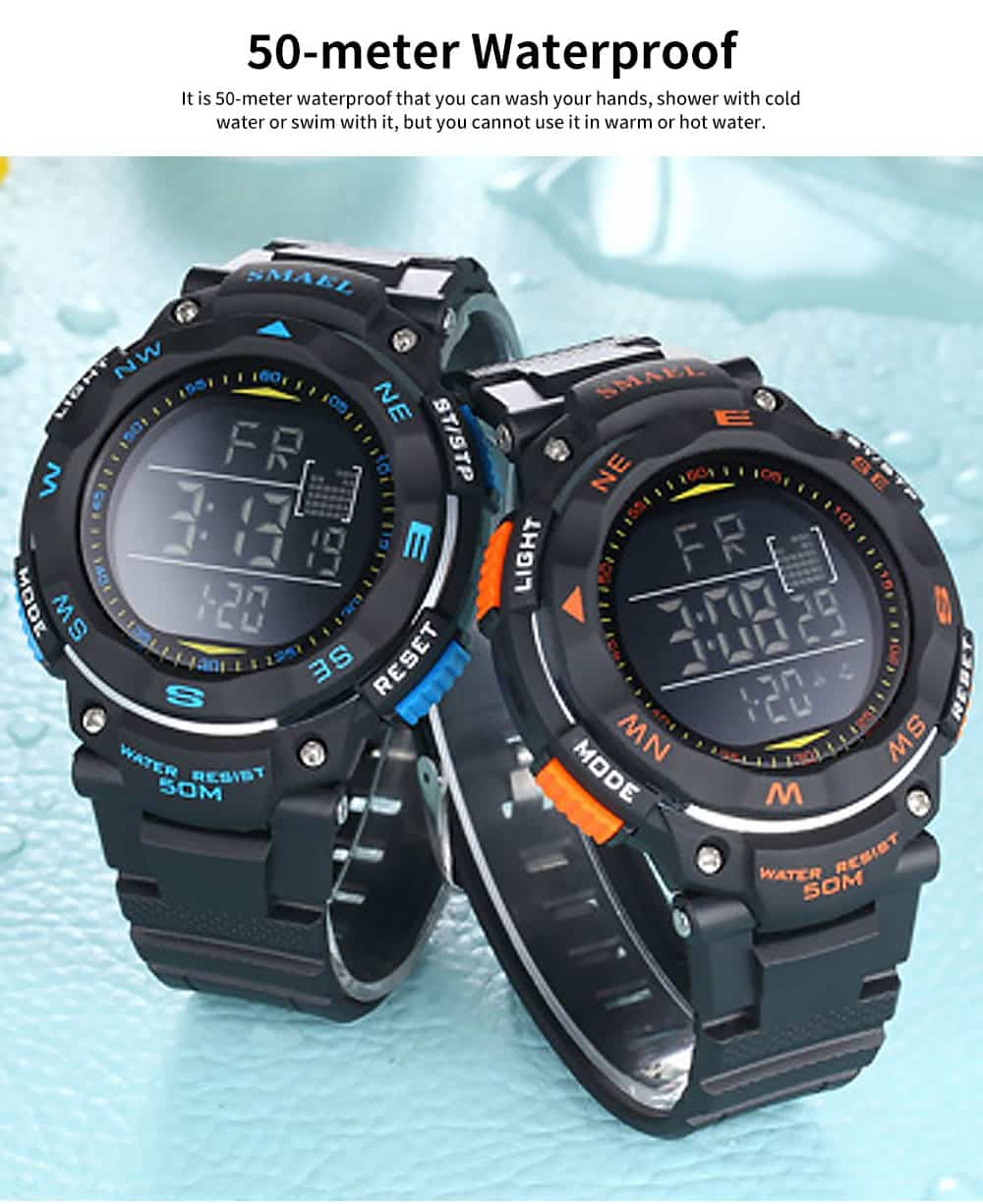 Digital Sport Watch for Teenagers, Boys, Students, Water-proof Multifunctional Luminous Digital Watch 3
