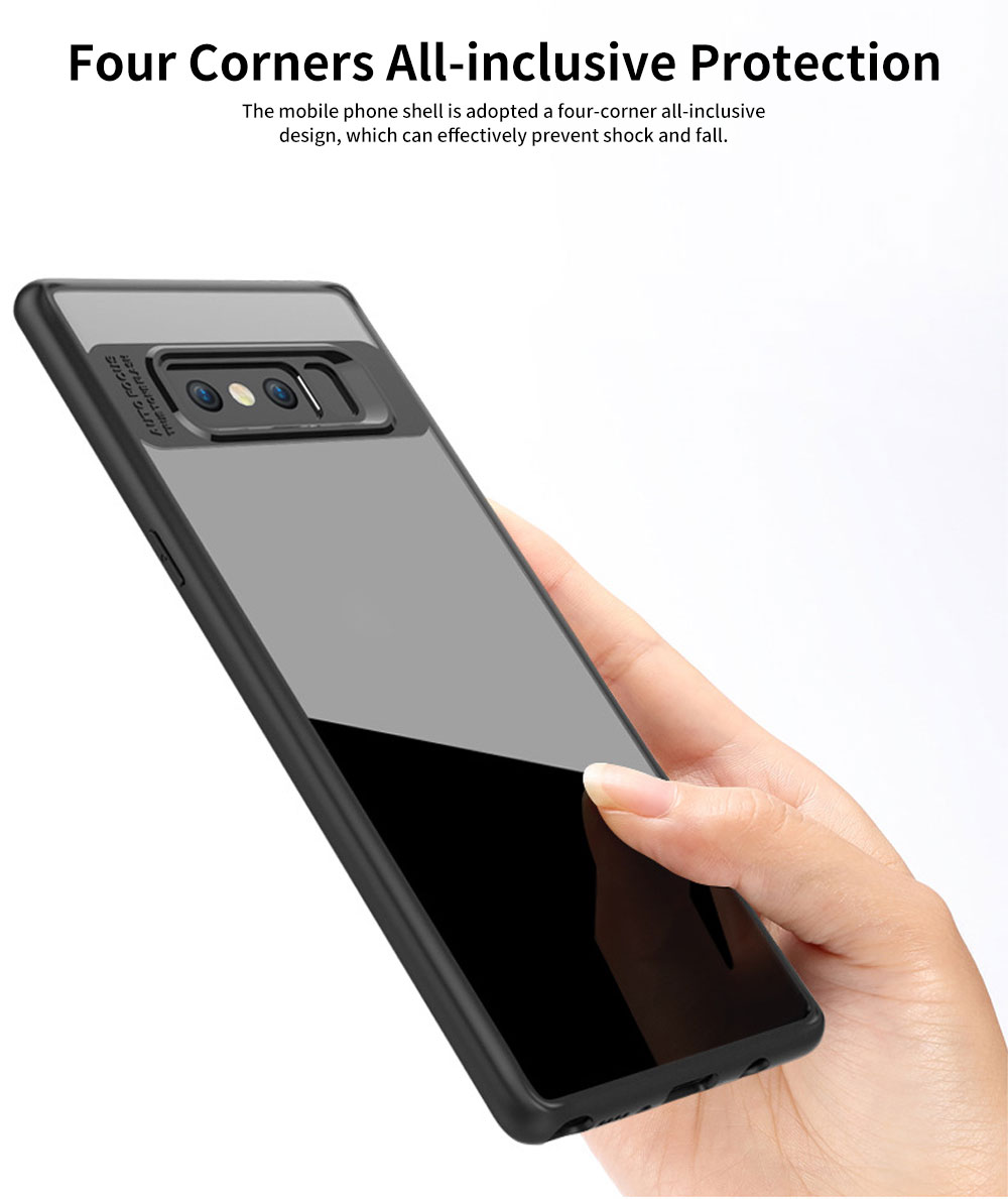 Shockproof Transparent Phone Case for SAMSUNG Note8 & S8 & S8 Plus TPU 2-in-1 Mobile Phone Shell 2