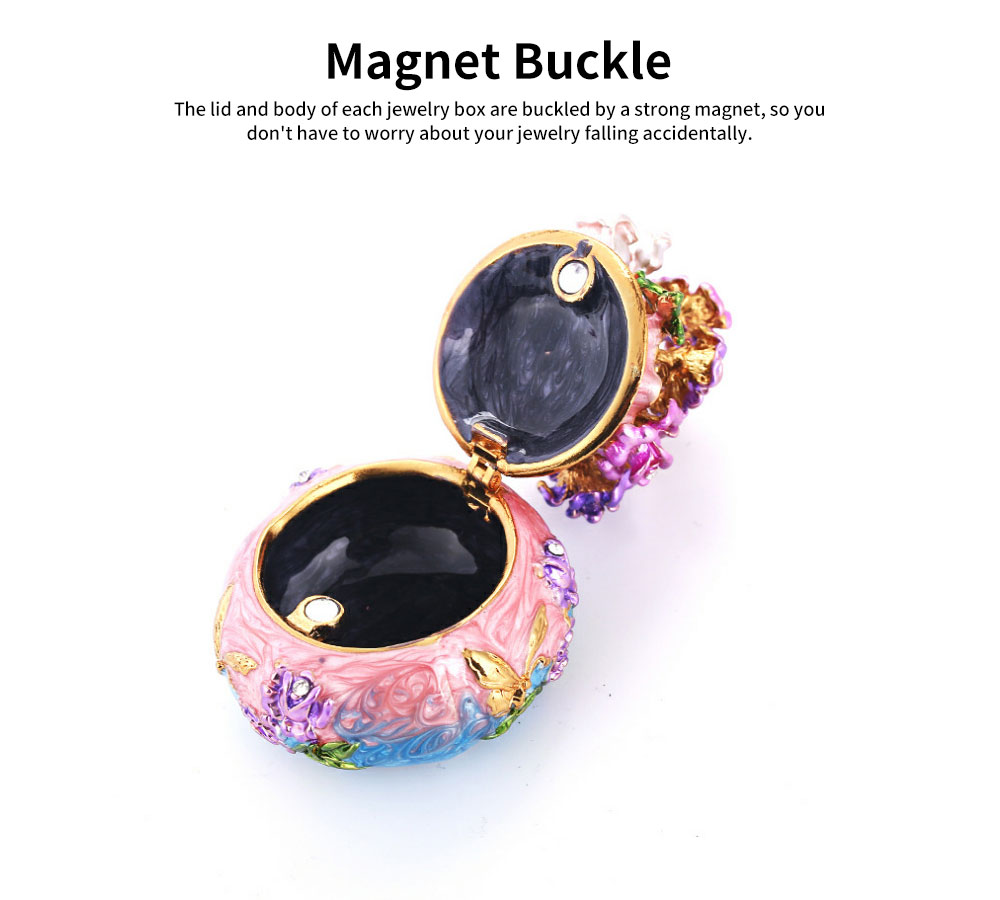 Jewelry Box High-grade Enamel Color Handmade Artwork Vase Ornaments for Household Jewelry Case 4