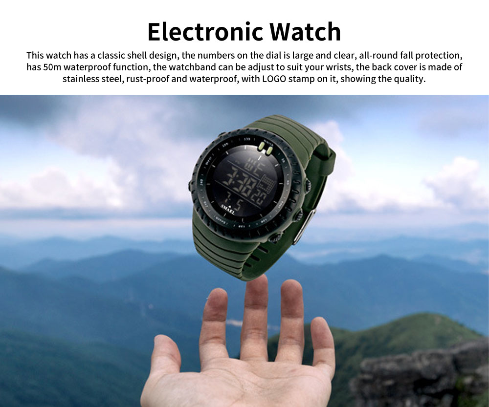 SMAEL Electronic Watch for Men & Women, Fashionable LED Dual Display Outdoor Multifunctional Sports Watch 0