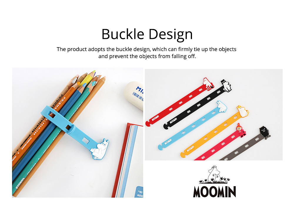 Fancy Soft Silicone Data Line Cable Tie Tidy, Cute Moomin Model Flexible USB Charger Food Bags Pens Organizer 7
