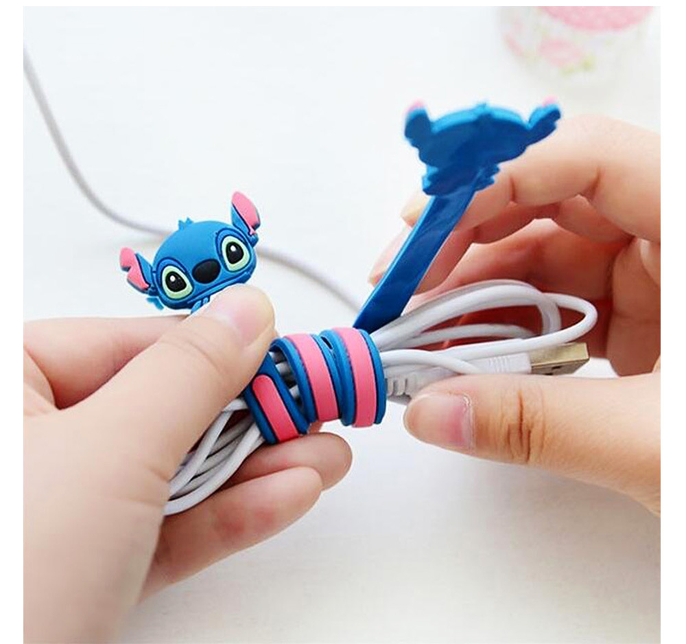 Cute Carton Wire Data Line Earphone Management Binding Strip, Flexible Bendable Line Metal Wire Organizer Holder 5