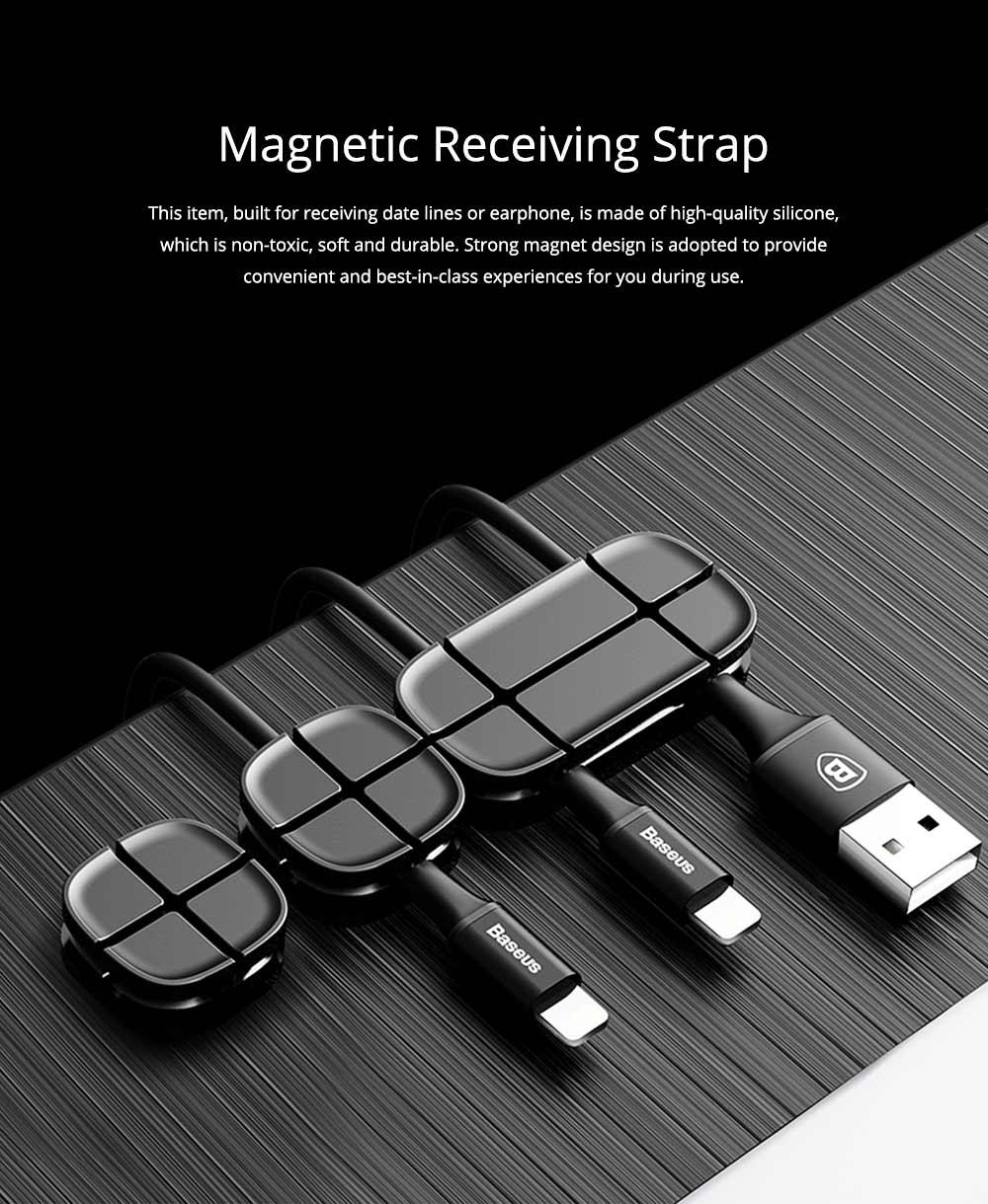 Ultrasoft Silicone Cross Cruciform Model Wire Data Line Earphone Organizer, Flexible Desktop Wire Holder Clamp Management 0