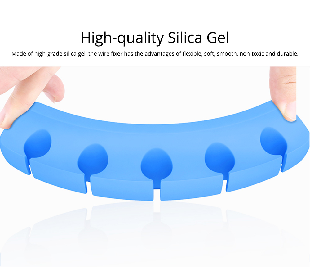 Soft Silica Desktop Gel Wires Fixer Holder, Silicone Data Lines USB Charging Lines Organizer Desk Management Assistance 1