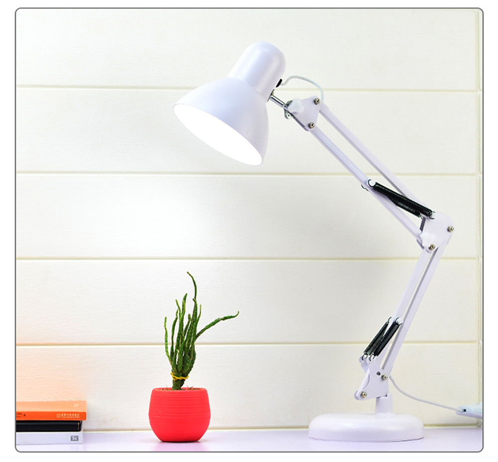 Classical Delicate Table Lamp Reading Light, Adjustable Solid ABS Metal Bedside Desktop Night Light Lamp 7