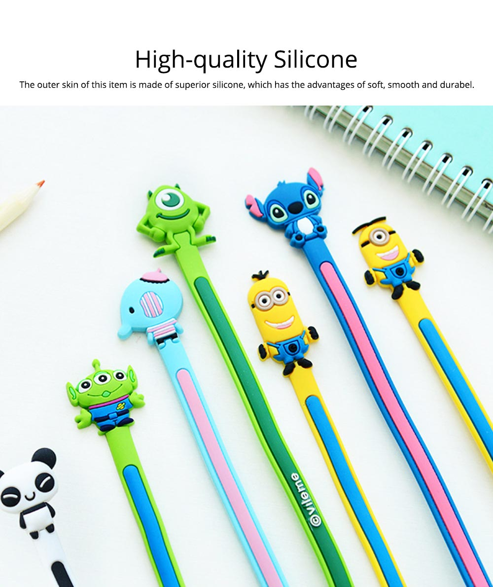 Cute Carton Wire Data Line Earphone Management Binding Strip, Flexible Bendable Line Metal Wire Organizer Holder 1