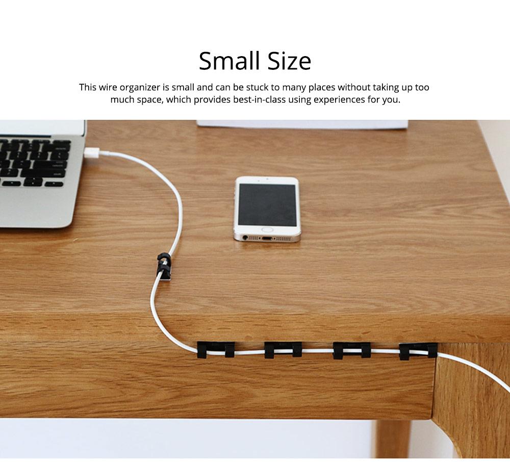 Durable ABS Small Data Wires Organizer Fixer, Desktop Deskside Wall Sticker Buckle Holder 4