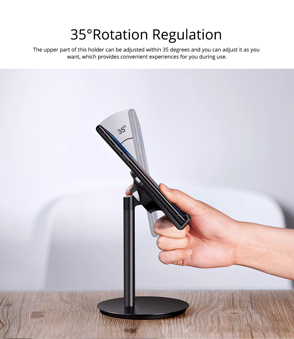 Universal Metal Phone Tablet Computer Holder Supporter, Multifunctional iPhone iPad Soft Silicone Desktop Stand 5