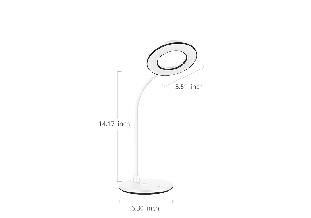 Flexible Eye Protection LED Table USB Charging Round Lamp, 3 Models Dimming Stepless Adjusted Light Lamp with Intelligent Touch 20