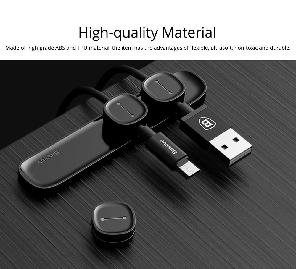 Universal Removable Date Line USB Charger Wire Magnet Fixer Holder, Flexible ABS TPU Wires Fixed Management Organizer 1