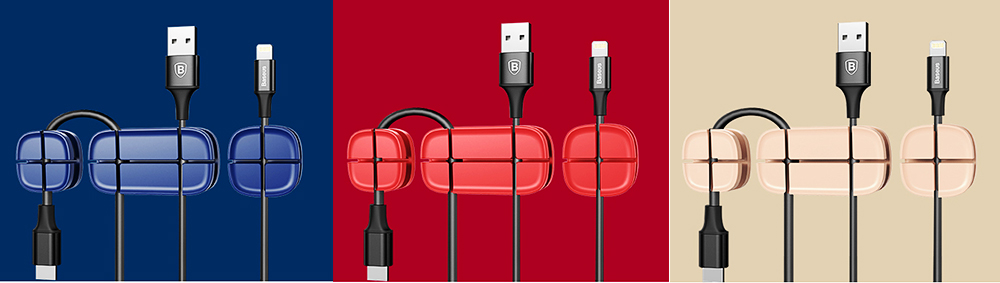Ultrasoft Silicone Cross Cruciform Model Wire Data Line Earphone Organizer, Flexible Desktop Wire Holder Clamp Management 3