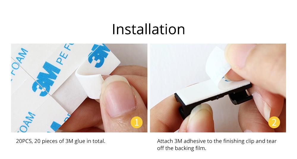 Durable ABS Small Data Wires Organizer Fixer, Desktop Deskside Wall Sticker Buckle Holder 9