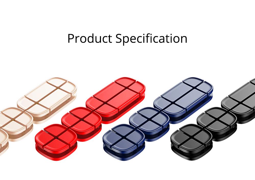 Ultrasoft Silicone Cross Cruciform Model Wire Data Line Earphone Organizer, Flexible Desktop Wire Holder Clamp Management 9