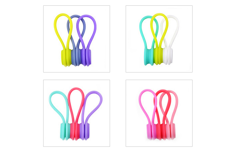 Flexible Silicone Date Wire USB Charger Earphone Management Organizer Tern Suit, Date Line Receiving Belt with Strong Magnet 8
