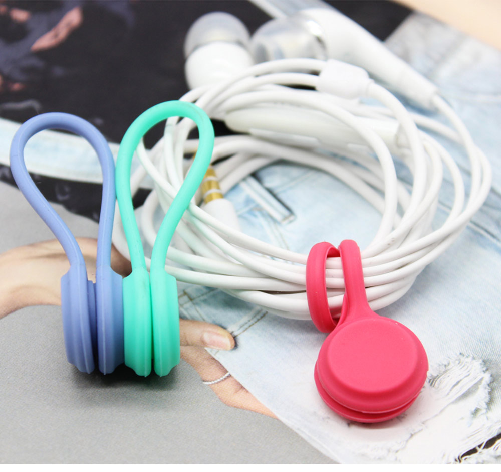 Flexible Silicone Date Wire USB Charger Earphone Management Organizer Tern Suit, Date Line Receiving Belt with Strong Magnet 4