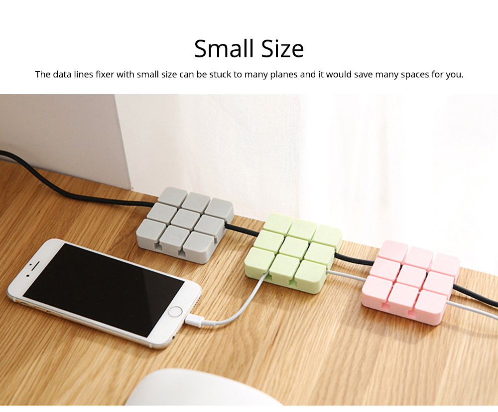 Desktop Self-Adhesive Data Line Finishing Fixed Clip Cable Organizer, Silicone USB Fixed Line Clips Wire Retainer Holder 9