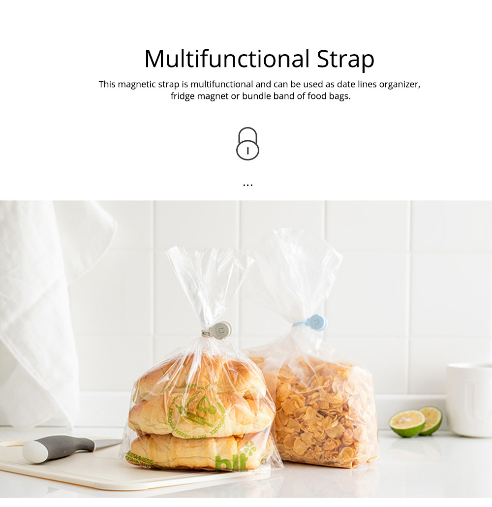 Minimalist 3PCS Magnetic Date Line Wire Organizer Strap, Soft Silicone Charging Line Earphone Wire Receiving Buckle Belt 6