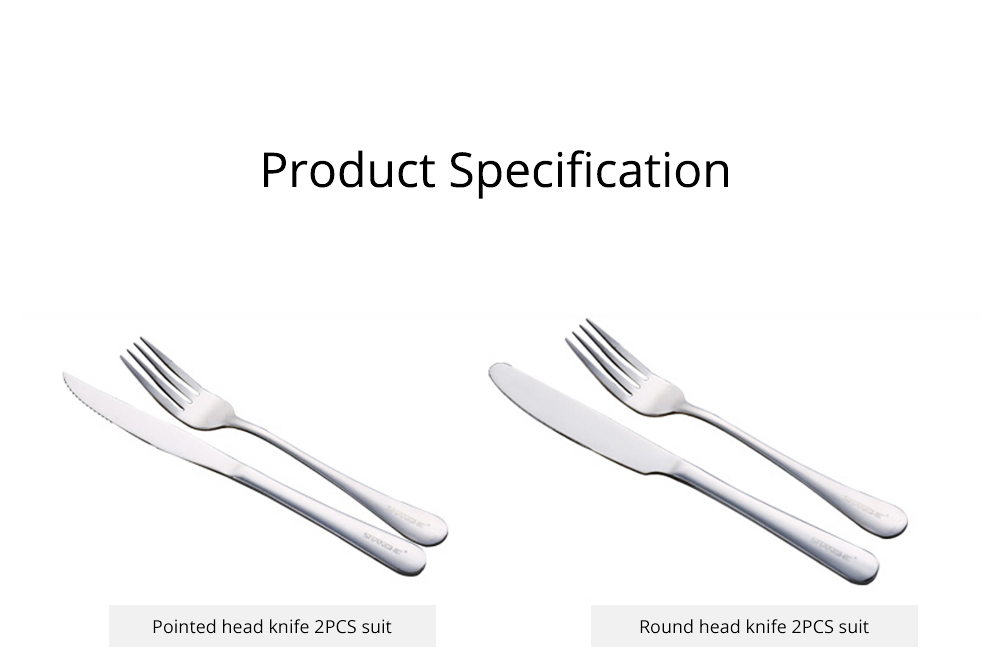 Simple Elegant Stainless Steel Knife Fork Spoon Cutlery Suit, Polishing Smooth Comfortable Tableware 2PCS 3PCS Set 9
